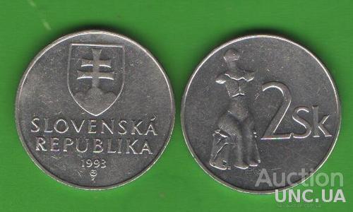 2 кроны Словакия 1993