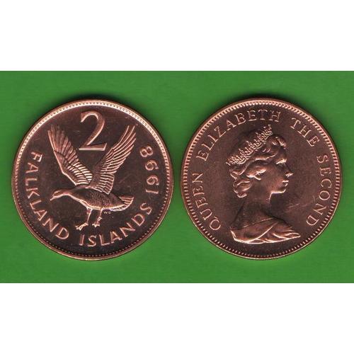 2 пенса Фолклендские о-ва 1998