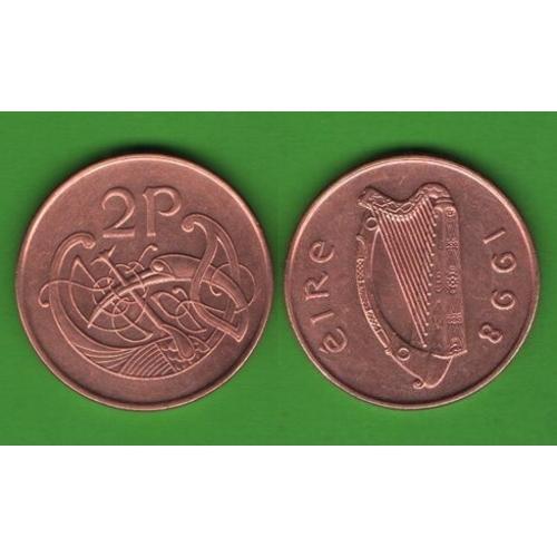 2 пенса Ирландия 1998