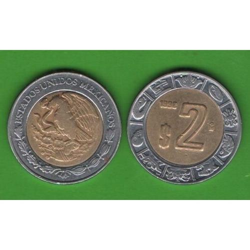 2 песо Мексика 1998
