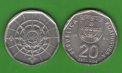 20 эскудо Португалия 1988