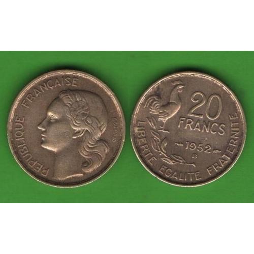 20 франков Франция 1952 В
