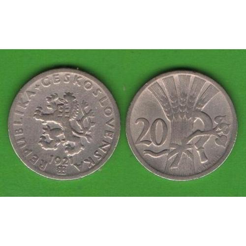 20 геллеров Чехословакия 1921
