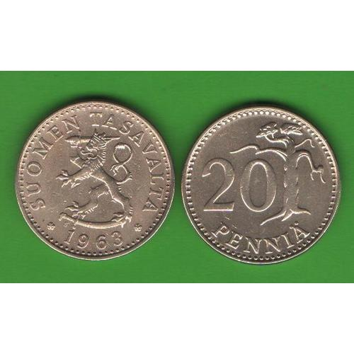 20 пенни Финляндия 1963
