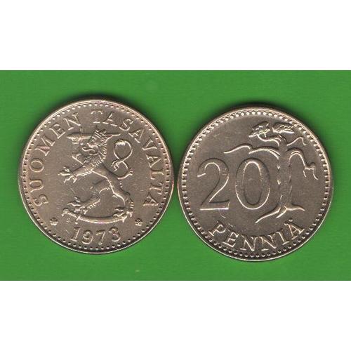 20 пенни Финляндия 1973