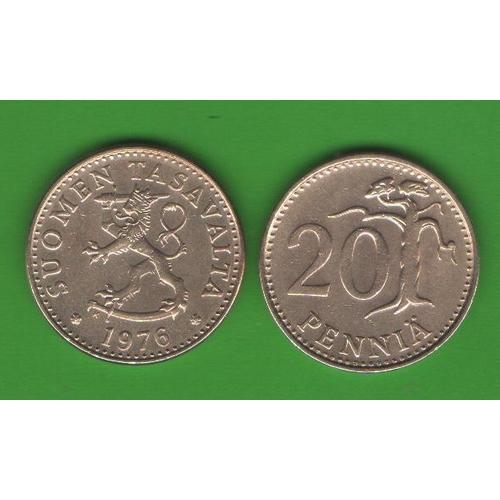 20 пенни Финляндия 1976