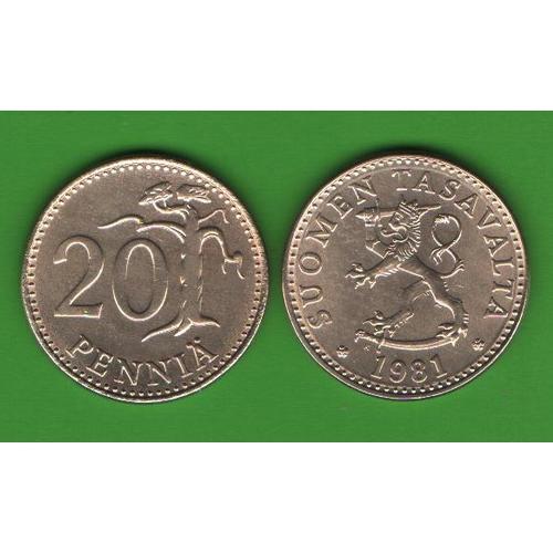 20 пенни Финляндия 1981