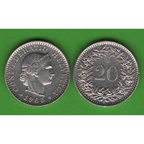 20 раппенов Швейцария 1965