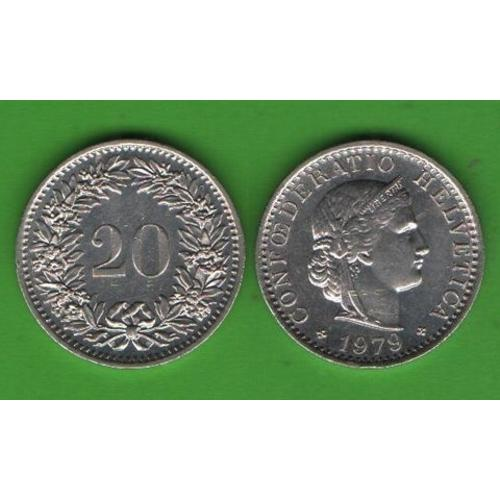 20 раппенов Швейцария 1979