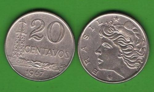 20 сентаво Бразилия 1967