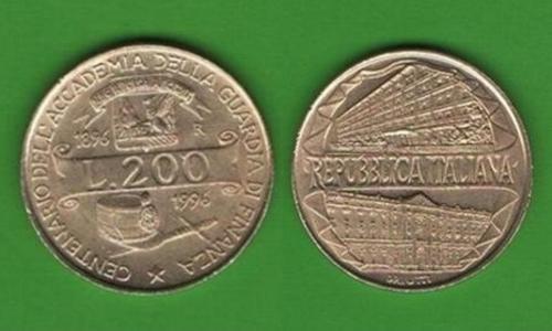 200 лир Италия 1996