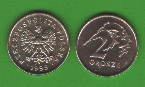 2 гроша Польша 1999
