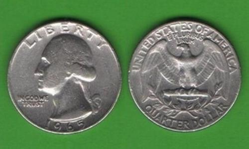 25 центов США 1965