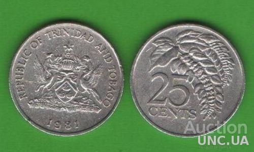 25 центов Тринидад и Тобаго 1981