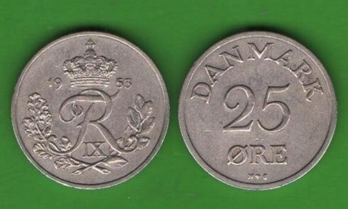 25 эре Дания 1953