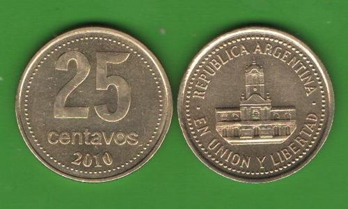25 сентаво Аргентина 2010