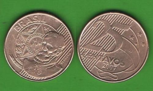 25 сентаво Бразилия 2007
