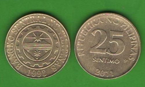 25 сентимо Филиппины 2011