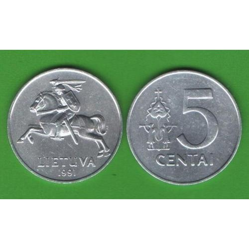 5 центов Литва 1991