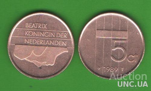 5 центов Нидерланды 1989