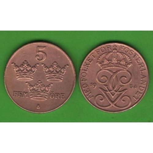 5 эре Швеция 1934