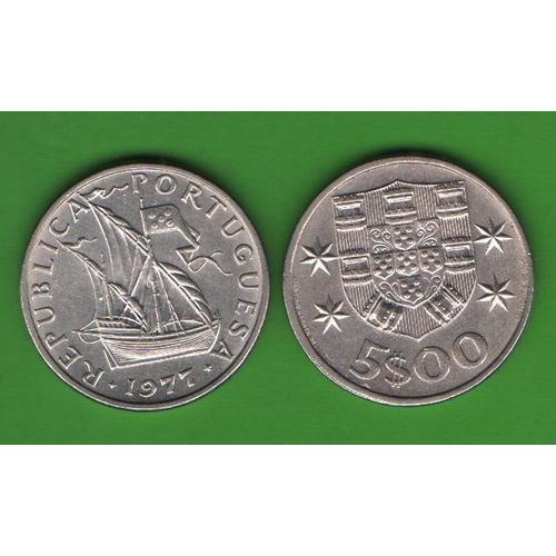 5 эскудо Португалия 1977