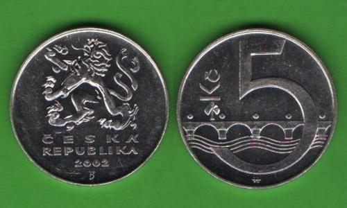 5 крон Чехия 2002