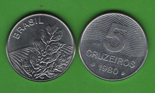 5 крузейро Бразилия 1980
