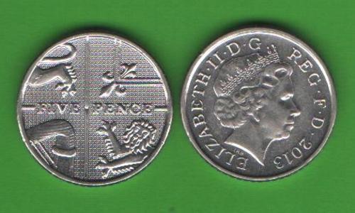 5 пенсов Великобритания 2013