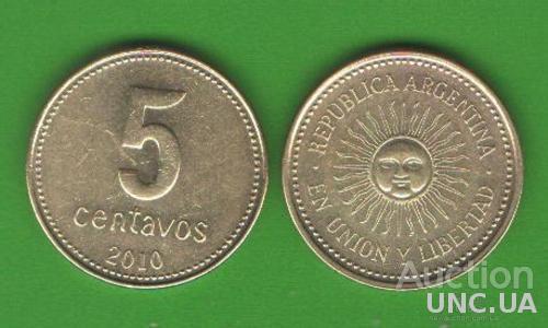 5 сентаво Аргентина 2010