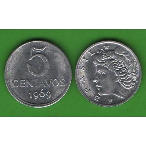 5 сентаво Бразилия 1969