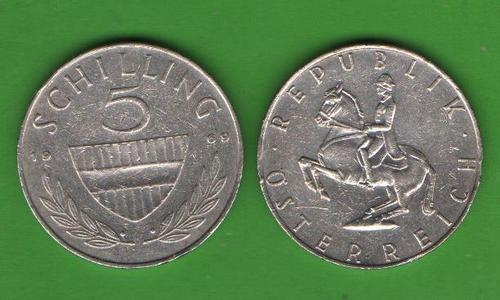 5 шиллингов Австрия 1969