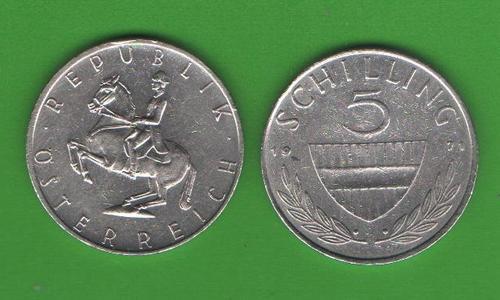 5 шиллингов Австрия 1971