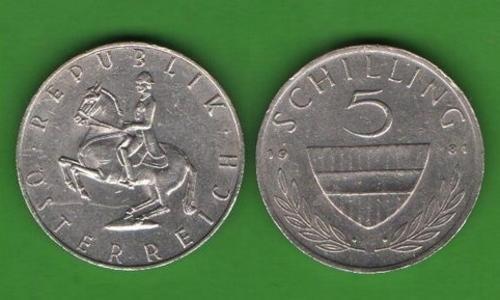 5 шиллингов Австрия 1981