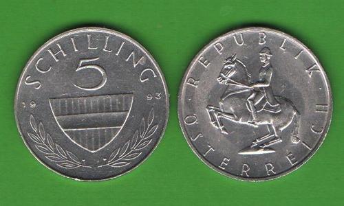5 шиллингов Австрия 1993