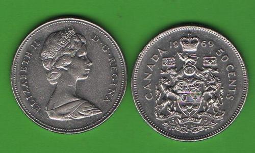 50 центов Канада 1969
