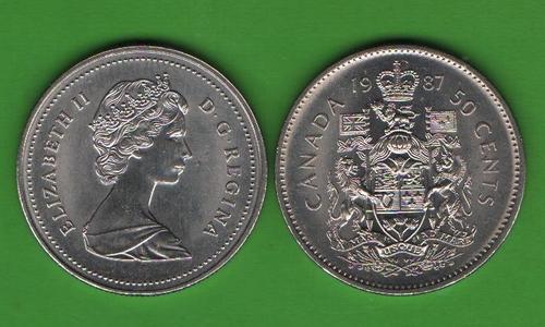 50 центов Канада 1987