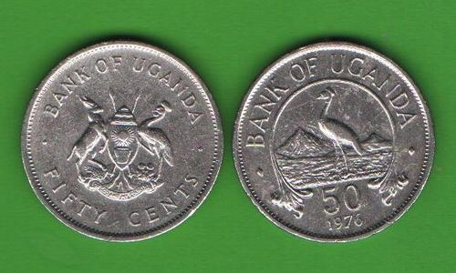 50 центов Уганда 1976