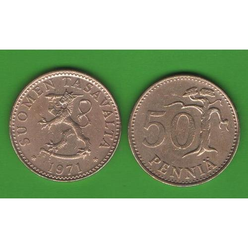 50 пенни Финляндия 1971