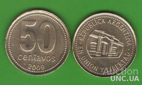 50 сентаво Аргентина 2009