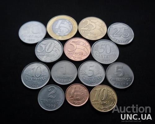 Монеты Бразилии 1969-2009
