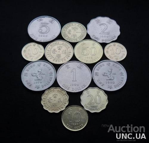 Монеты Гонконга 1964-1998