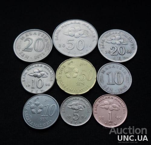 Монеты Малайзии.