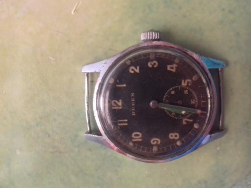 Немецкие военные часы Buren DH, военный заказ Вермахта, Швейцария, 1940-е годы