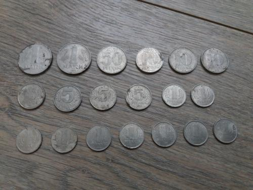 Монеты ГДР pfennig mark