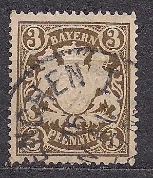 Бавария, немецкие земли, 1890 г., акция!!!, 20% каталога, марка № 60