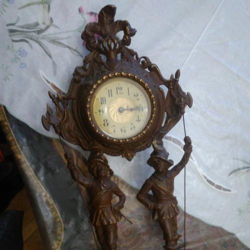 """Часы, Германия, 1850-70 гг., сплав """"розе"""""""
