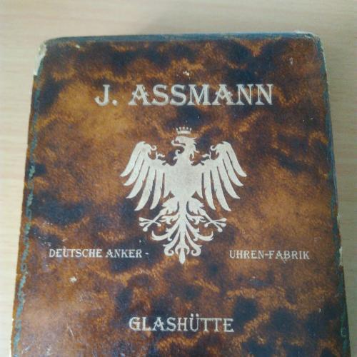 Германия, 19-й век, большие карманные часы J. Assmann, редкость, оригинал в родной коробке, золото