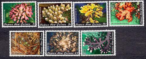 Папуа Новая Гвинея**, 1982 г., флора, кораллы