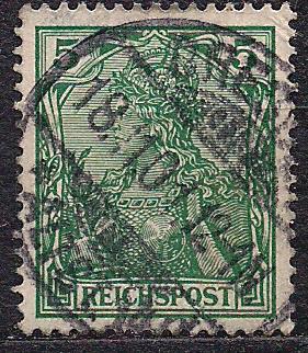 Рейх, 1900 г., !!!, акция 20% каталога, стандартный выпуск посвященный 100-летию Германии, марка №55